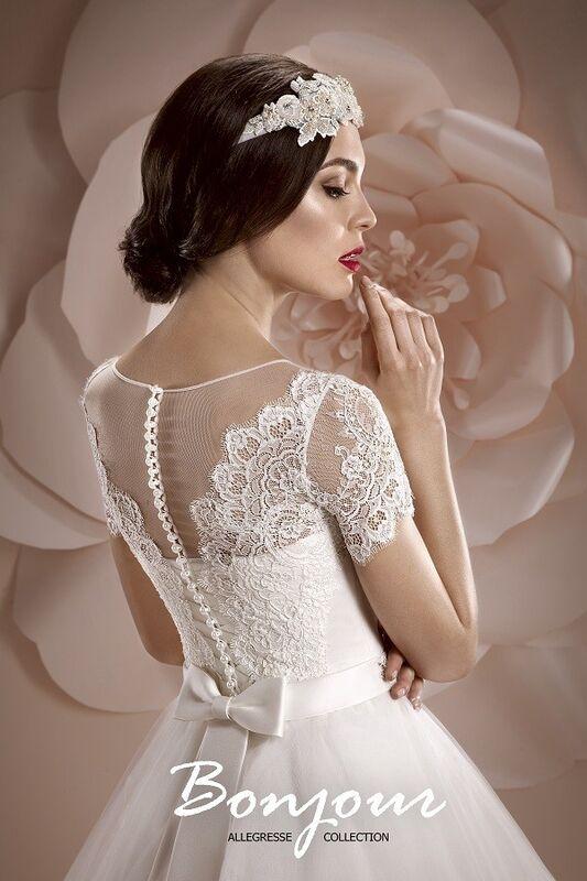 Свадебное платье напрокат Bonjour Платье свадебное «Oris» из коллекции ALLEGRESSE 2017 - фото 4