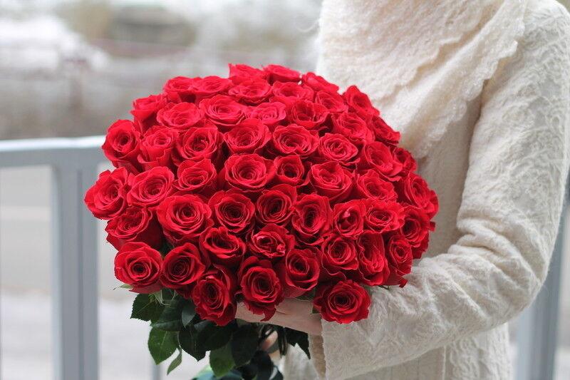 Магазин цветов Cvetok.by Букет из 51 красной розы - фото 2
