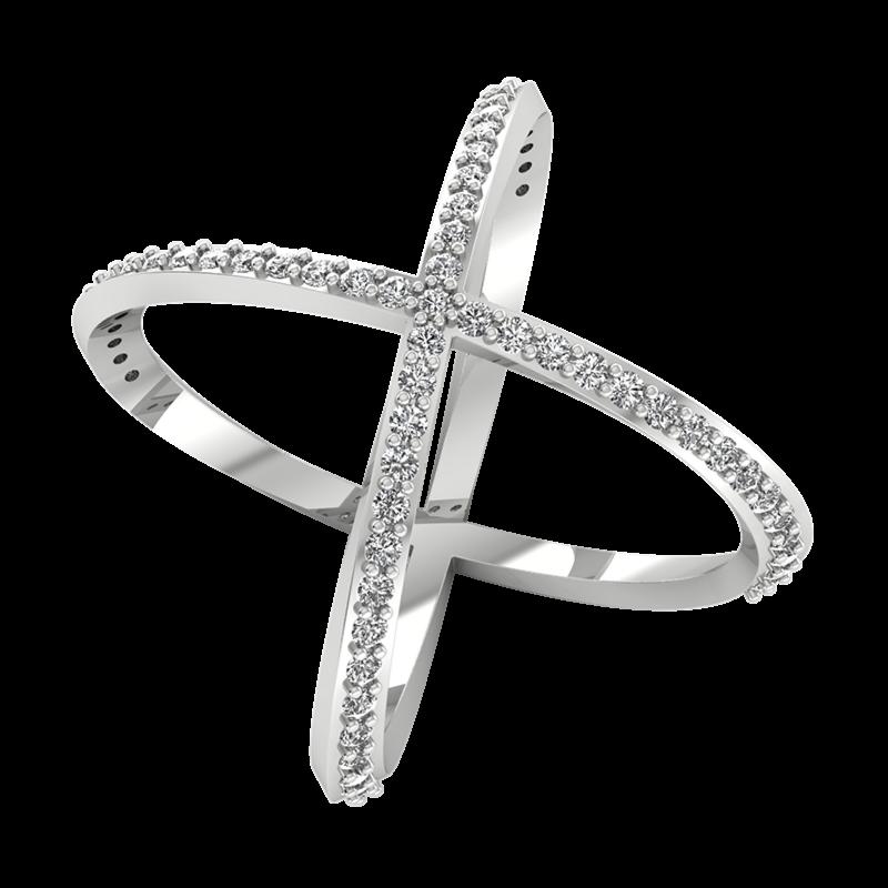Ювелирный салон ZORKA Кольцо из серебра с фианитом 0210029-F - фото 1