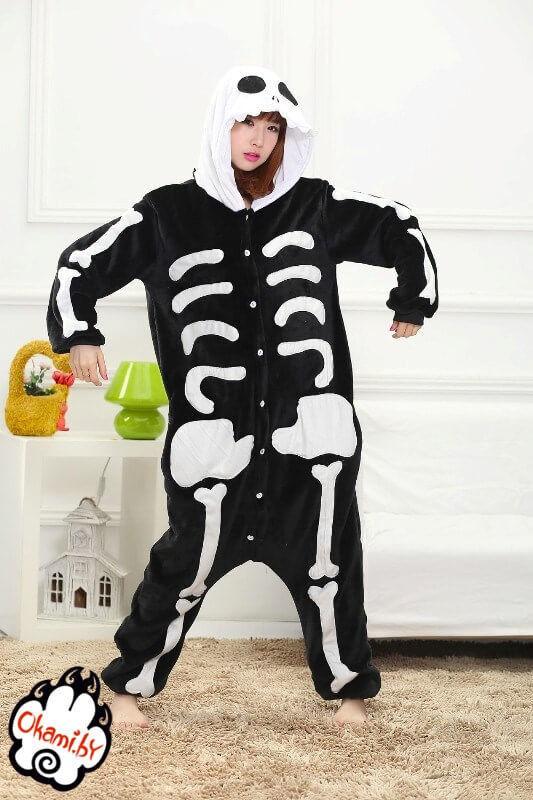 Подарок Taicang Soft Пижама кигуруми «Скелет» - фото 1