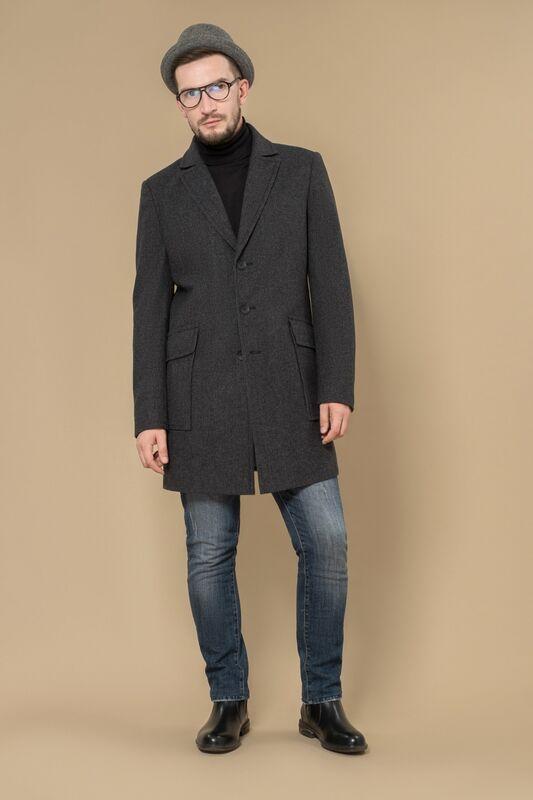 Верхняя одежда мужская Etelier Пальто мужское демисезонное 1М-8360-1 - фото 1