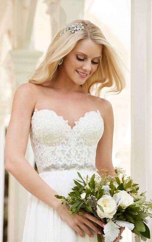 Свадебное платье напрокат Essense of Australia Платье свадебное Celia Shae - фото 3