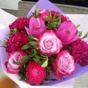 Магазин цветов Прекрасная садовница Ягодно-малиновый с куркумой - фото 1