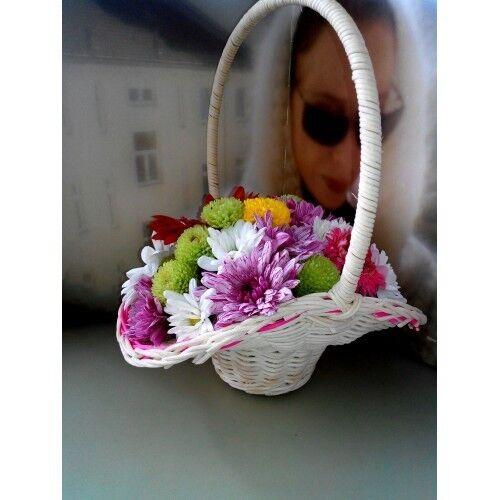 Магазин цветов ХэппиФлора Цветочная композиция в корзинке №6 - фото 2