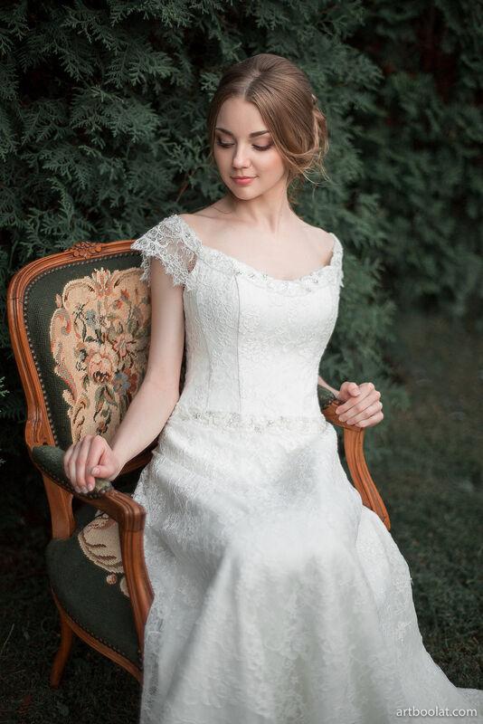 Свадебное платье напрокат Артемида Кружевное платье Ann - фото 2