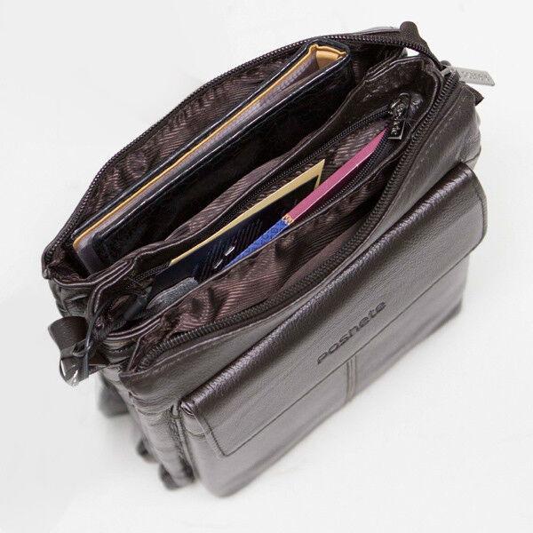 Магазин сумок Poshete Сумка мужская коричневая 186-7040А - фото 3