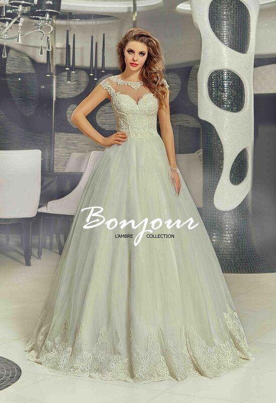 Свадебное платье напрокат Bonjour Платье свадебное «Nora» из коллекции LAMBRE 2017 - фото 1