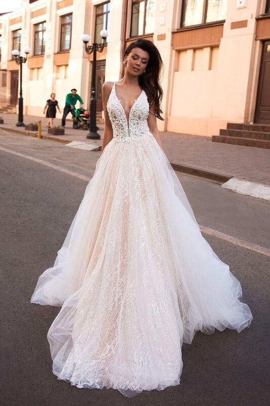 Свадебный салон Ida Torez Свадебное платье Lambis Crocata - фото 1