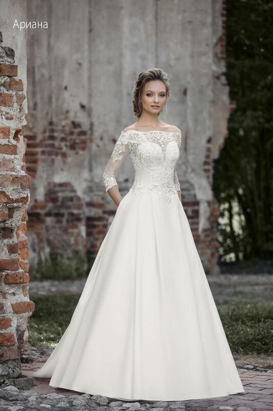 Свадебное платье напрокат Vintage Платье свадебное «Арианна» - фото 1