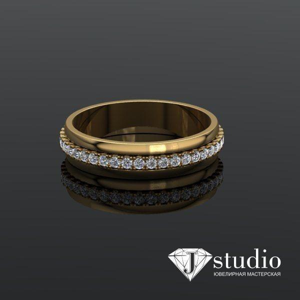 Ювелирный салон jstudio Золотое кольцо с вращающимся центром Ю-061К - фото 5