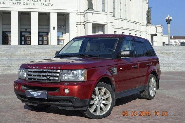 Прокат авто Range Rover Sport бордового цвета - фото 1