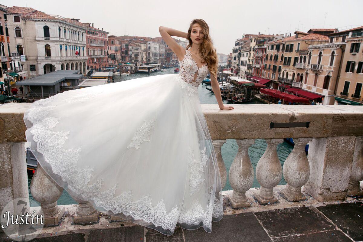 Свадебное платье напрокат Bonjour Платье свадебное «Justin» из коллекции LE DELICE 2018 - фото 4