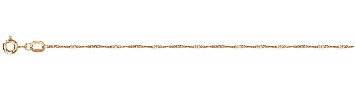 Ювелирный салон Красцветмет Цепь из розового золота (плетение Сингапур) НЦ 12-028/0,2 - фото 1