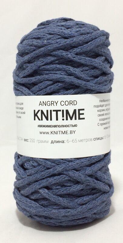 Товар для рукоделия Knit!Me Веревочная пряжа Angry Cord - Джинс (AC11) - фото 1