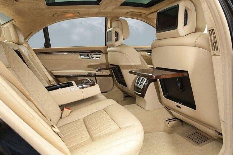 Прокат авто Mercedes-Benz W221 S-class белого цвета - фото 7