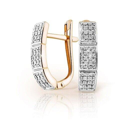 Ювелирный салон Jeweller Karat Серьги золотые с бриллиантами арт. 1224728 - фото 1