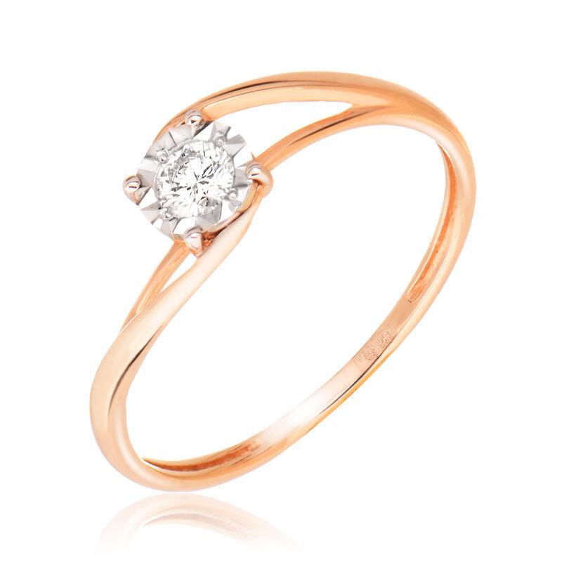 Ювелирный салон Jeweller Karat Кольцо золотое с бриллиантами арт. 3214522/9 - фото 1