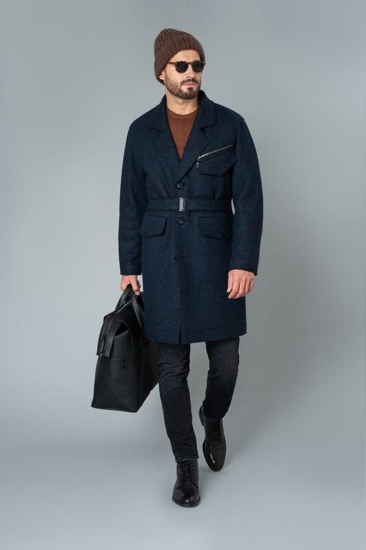 Верхняя одежда мужская Etelier Пальто мужское утепленное 6М-9524-1 - фото 1
