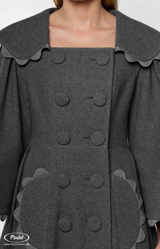 Верхняя одежда женская Pintel™ Приталенное двубортное пальто  Younis - фото 3