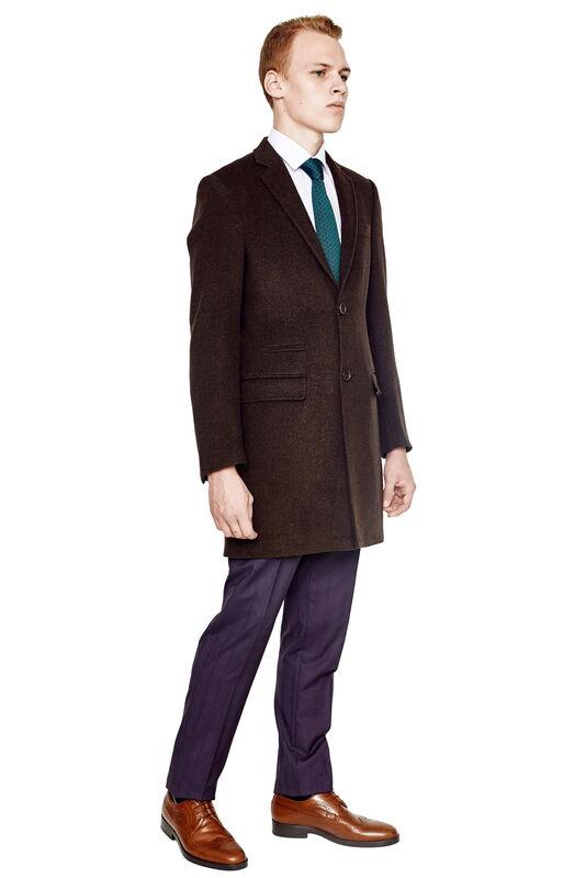 Верхняя одежда мужская HISTORIA Пальто мужское коричневое H01 - фото 1