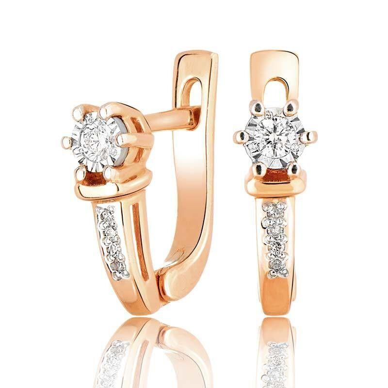 Ювелирный салон Jeweller Karat Серьги золотые с бриллиантами арт. 3224657/9 - фото 1