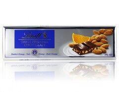 Подарок на Новый год Lindt & Sprungli Шоколад темный с апельсином и миндалем «Gold», 300 г - фото 1
