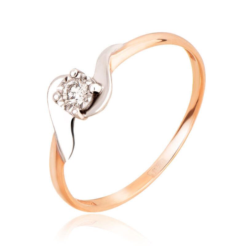 Ювелирный салон Jeweller Karat Кольцо золотое с бриллиантами арт. 3212600/9 - фото 1