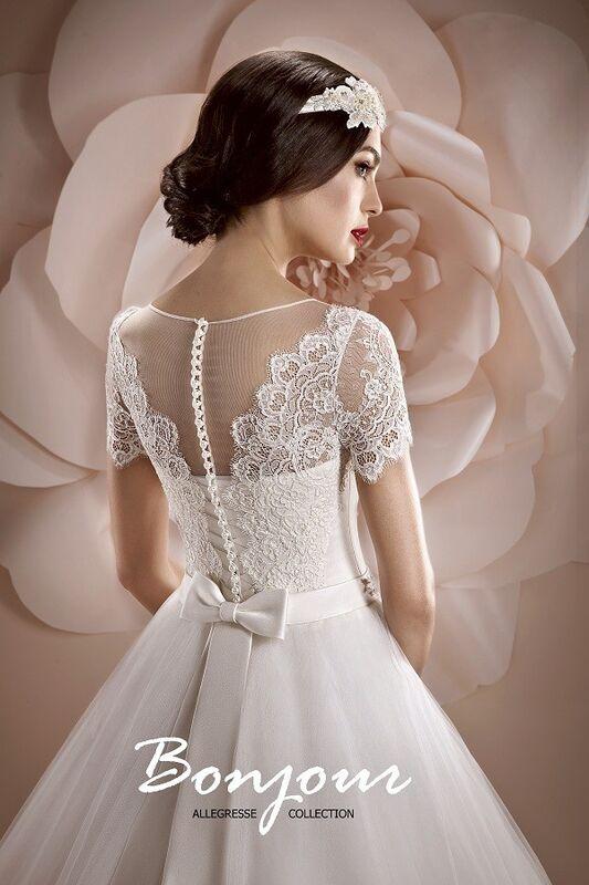 Свадебное платье напрокат Bonjour Платье свадебное «Oris» из коллекции ALLEGRESSE 2017 - фото 3