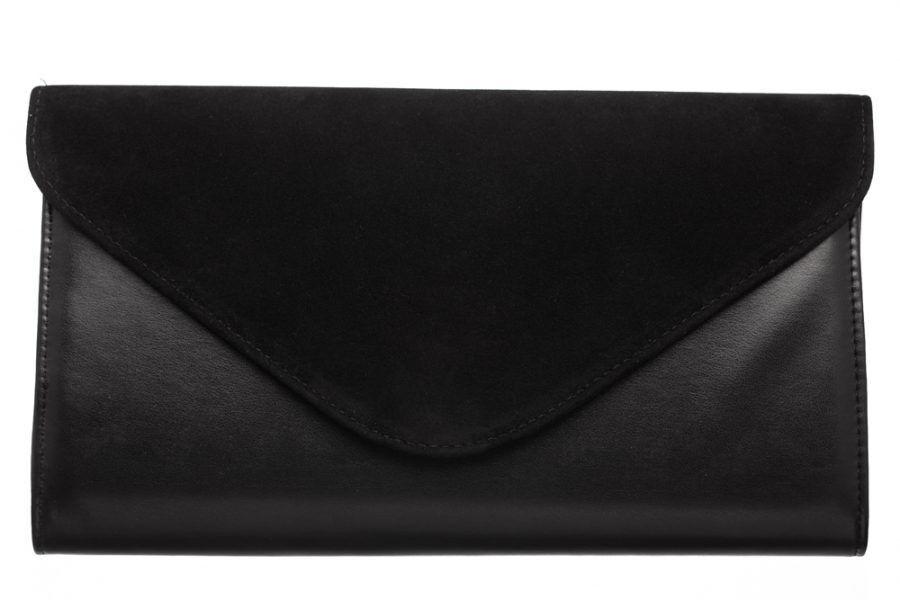 Магазин сумок Vera Pelle Клатч черный 8-03 - фото 1