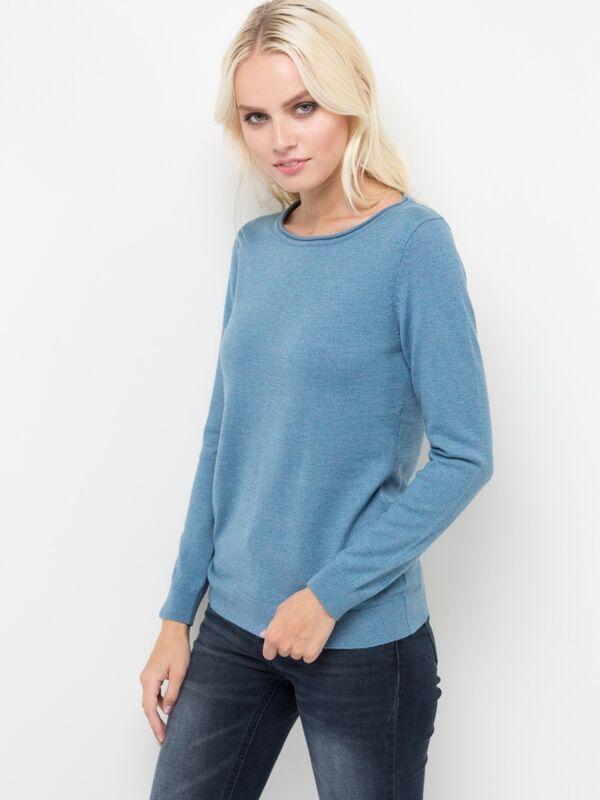 Кофта, блузка, футболка женская Sela Джемпер женский JR-114/1220-7442 голубой - фото 1