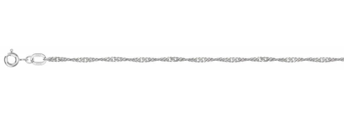 Ювелирный салон Красцветмет Цепь из серебра (плетение Сингапур) НЦ 22-028-3/0,35 - фото 1