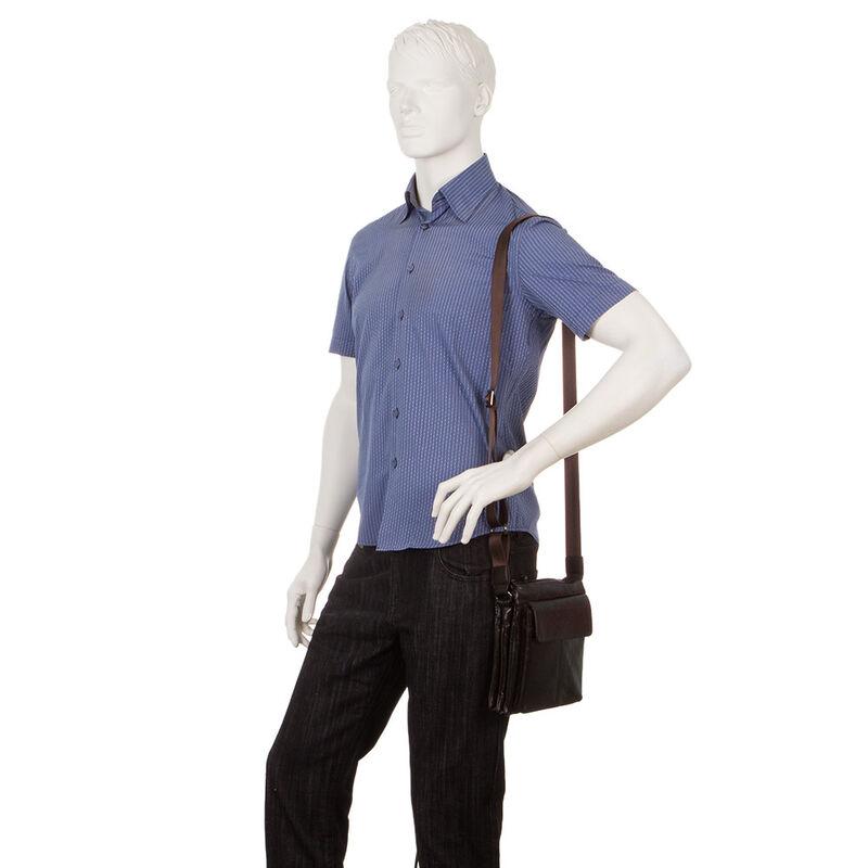 Магазин сумок Poshete Сумка мужская коричневая 186-7040А - фото 4