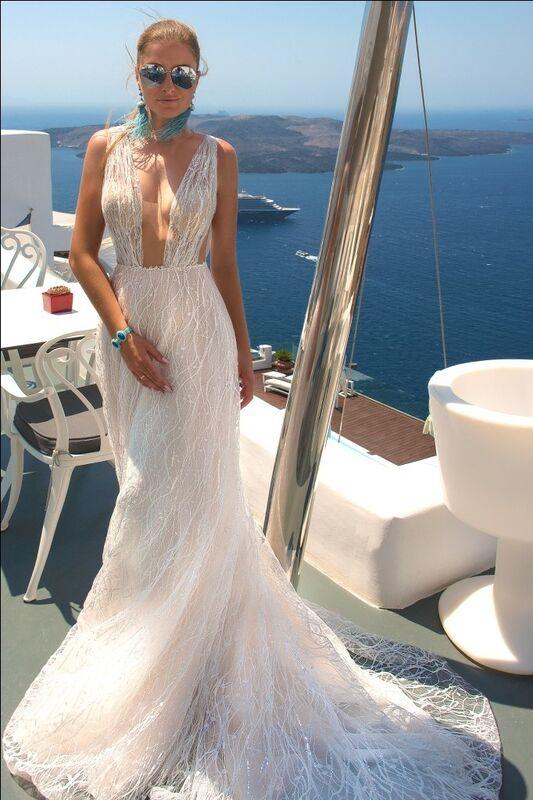 Свадебное платье напрокат Rafineza Свадебное платье Sandra Santorini напрокат - фото 1