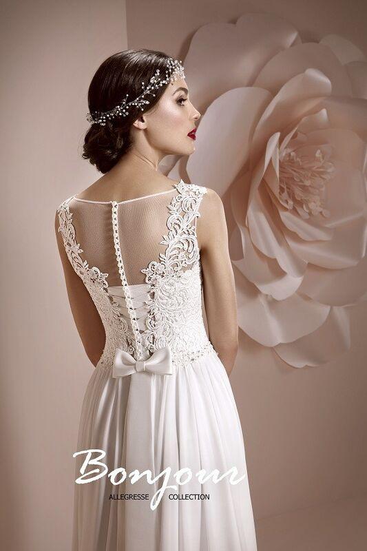 Свадебное платье напрокат Bonjour Платье свадебное «Lerdes» из коллекции ALLEGRESSE 2017 - фото 2