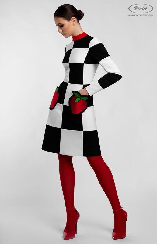 Платье женское Pintel™ Приталенное оп-арт мини-платье TAMÖNIC - фото 3