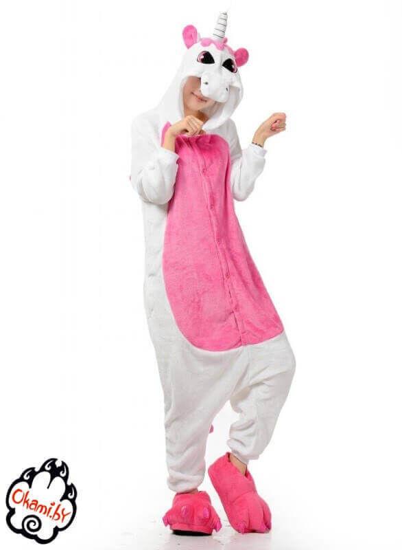Подарок Taicang Soft Пижама кигуруми «Розовый единорог» - фото 1