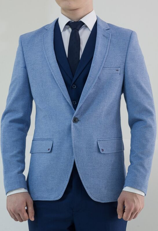 Пиджак, жакет, жилетка мужские AKCENT Пиджак мужской светло-голубой - фото 1