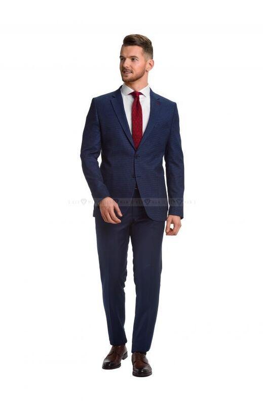 Пиджак, жакет, жилетка мужские Keyman Пиджак мужской синий фактурный с накладными карманами - фото 2