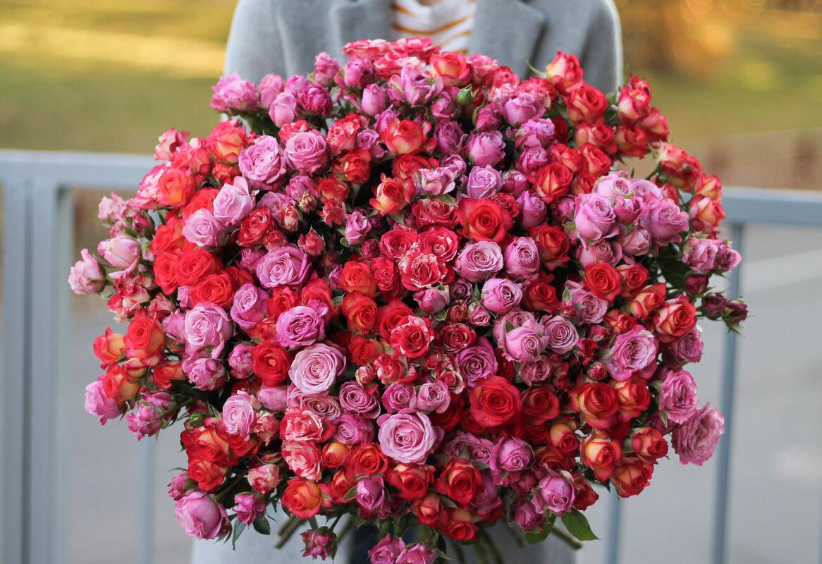 Магазин цветов Cvetok.by Букет «Из 51 кустовой розы» - фото 1