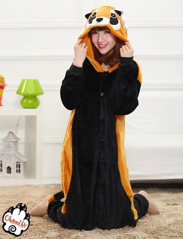 Подарок Taicang Soft Пижама кигуруми «Красная Панда (Енот)» - фото 2