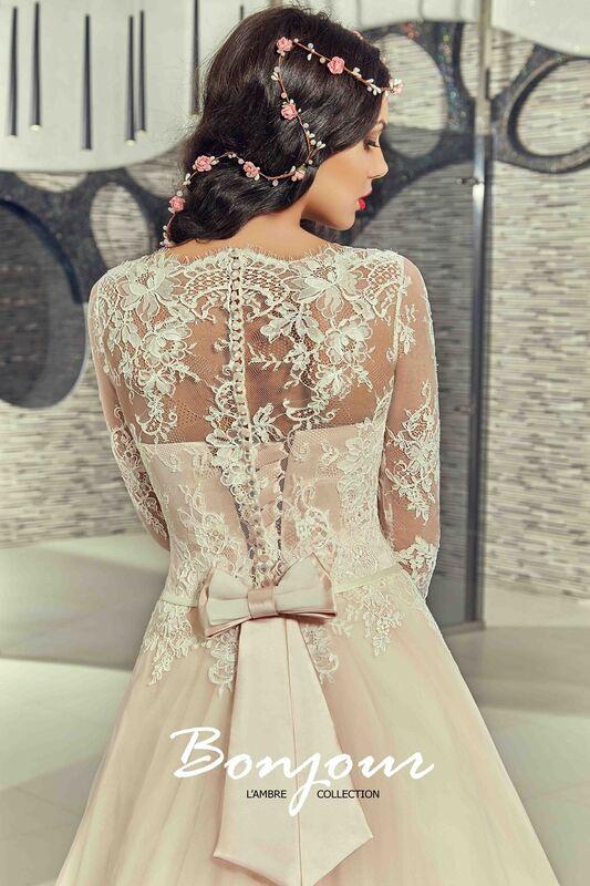 Свадебный салон Bonjour Свадебное платье «Fibi» из коллекции LAMBRE 2017 - фото 4