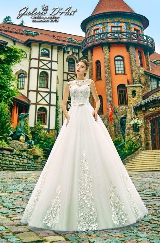 Свадебное платье напрокат Galerie d'Art Платье свадебное «Рита» из коллекции BESTSELLERS - фото 1