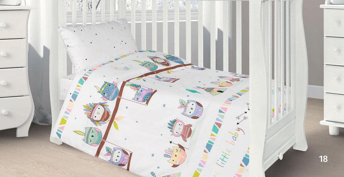 Подарок Ecotex Комплект постельного белья в детскую кроватку арт. 18 - фото 1