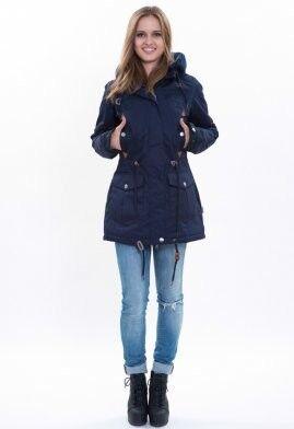 Спортивная одежда Free Flight Парка женская зимняя удлинённая модель №1458 синяя - фото 1