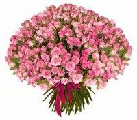 Магазин цветов Ветка сакуры Букет из 101 кустовой розы - фото 1