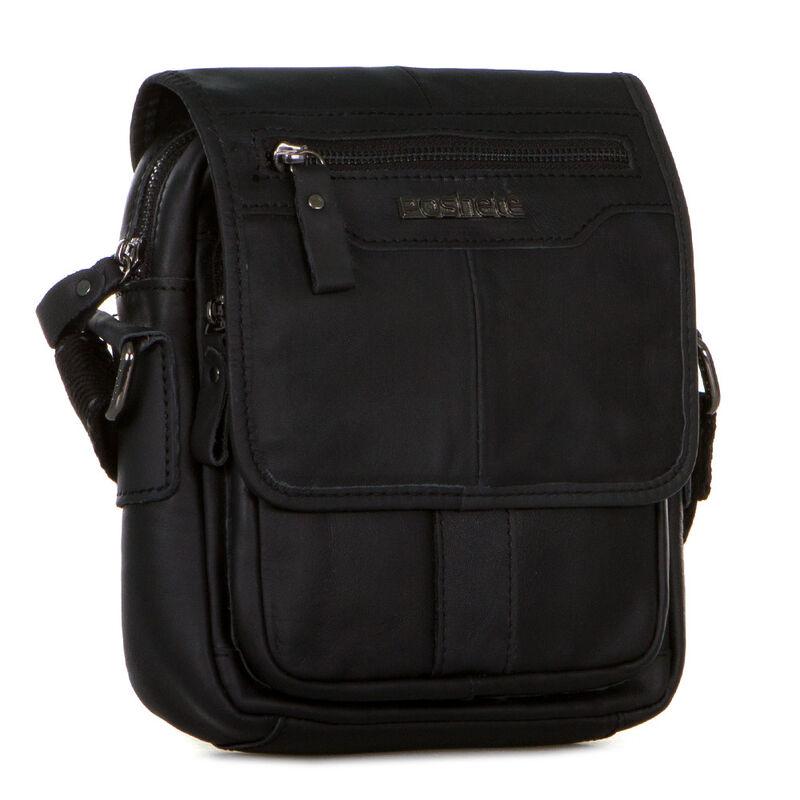 Магазин сумок Poshete Сумка мужская черная 196-1464-9 - фото 1