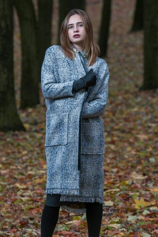 Верхняя одежда женская MISUTERI Пальто Seru Grey MSS0093 - фото 1