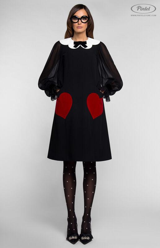 Платье женское Pintel™ Платье А-силуэта из натуральной шерсти TIFFANY - фото 1