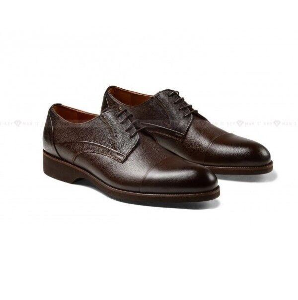 Обувь мужская Keyman Туфли мужские коричневые с подрезами на сплошной подошве - фото 1