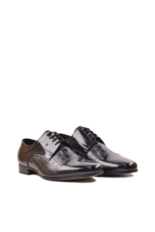 Обувь мужская HISTORIA Туфли дерби черные глянец Sh.B.73127 - фото 4
